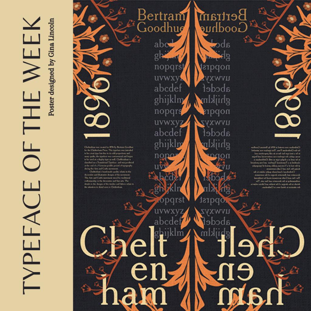 Cheltenham typeface poster