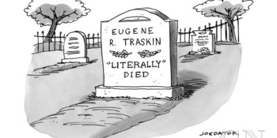 joe dator cartoon, literally died