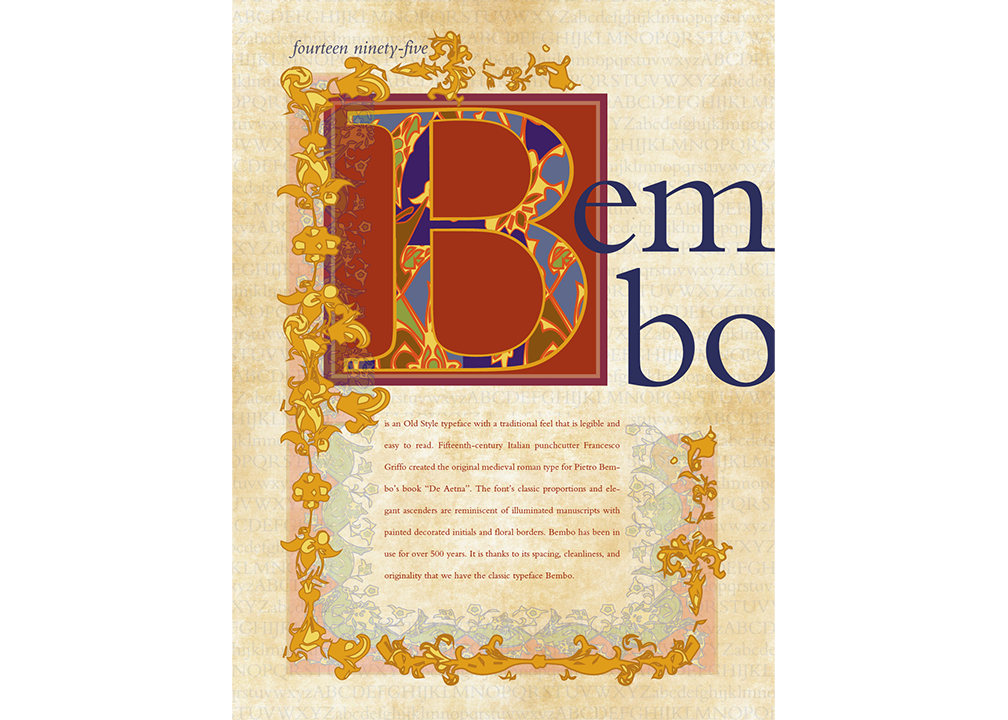 Bembo typeface poster