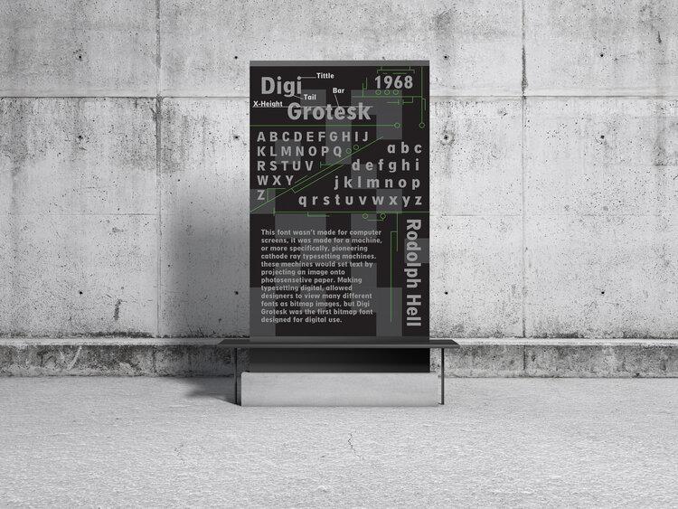 Digi Grotesk typeface poster